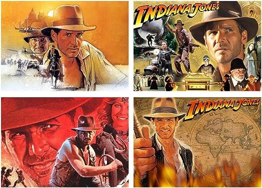 Juego de 4 manteles individuales de mesa Indiana Jones: Amazon.es: Hogar