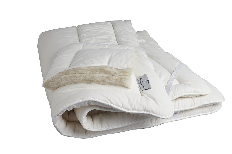 Devon edredones UK - británica Hecha a Mano Natural Lana Tejida (Lana) Protector de colchón - Individual (90 x 190 cm): Amazon.es: Hogar