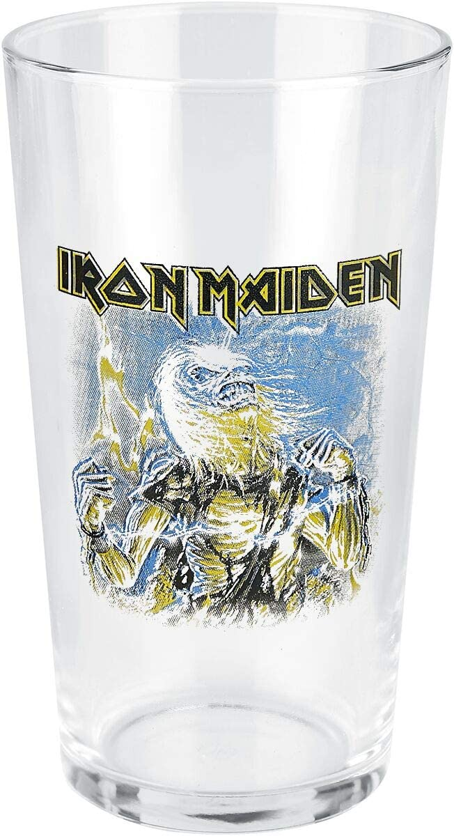 0,5 l vidrio Iron Maiden Live after death Unisex Vaso de cerveza transparente