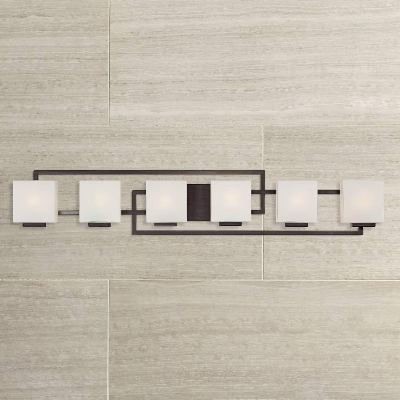 "Lighting on The Square 45"" Wide Bronze Bath Vanity Light"