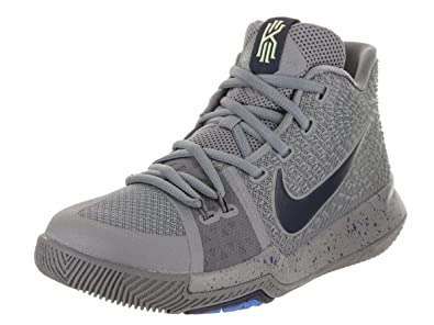 9d07effc3b ... clearance nike kyrie 3 g.s big kids youth cool grey black anthracite  polarized blue f1004 92569