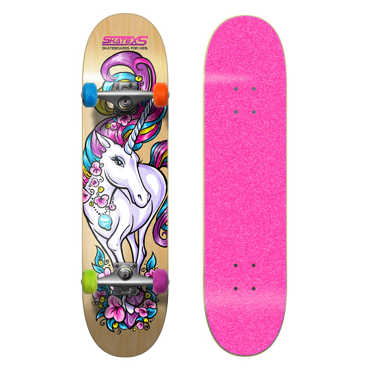 SkateXS Beginner Unicorn Girls Skateboard by SkateXS (Image #1)