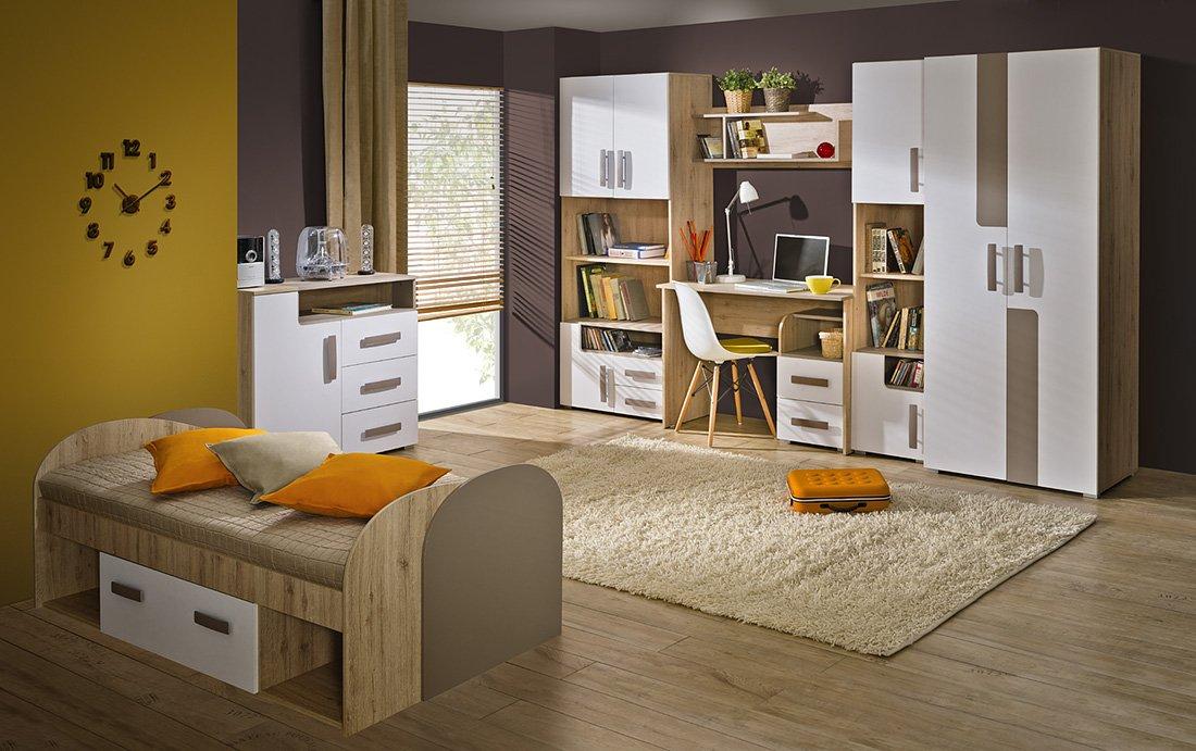 Jugendzimmer Kinderzimmer Set TREY 9-tlg. komplett, mit ...
