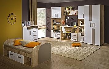 Kinderzimmer komplett set  Jugendzimmer Kinderzimmer komplett Set TREY mit Schrank, Bett ...