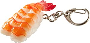 flavorbox(フレーバーボックス) Sushi Keychain (1 Pack: Shrimp) Realistic, Food replicas/for Bags, Keys or Pouches/A Gift for People who Like Sushi and Novelty/Japanese Culture/Japan-Made/ 20 Kinds