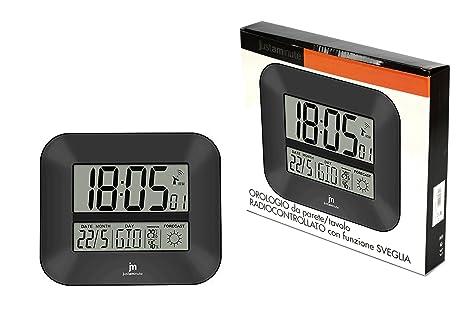lowell Reloj Pared Controlado por Radio Gris jd9906
