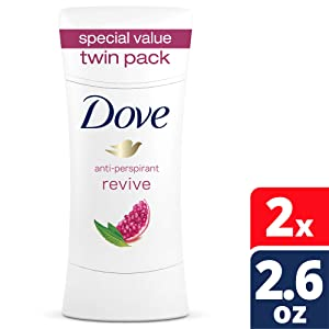 Dove Advance Care Antiperspirant Deodorant, Revive, 2.6 oz, Twin Pack