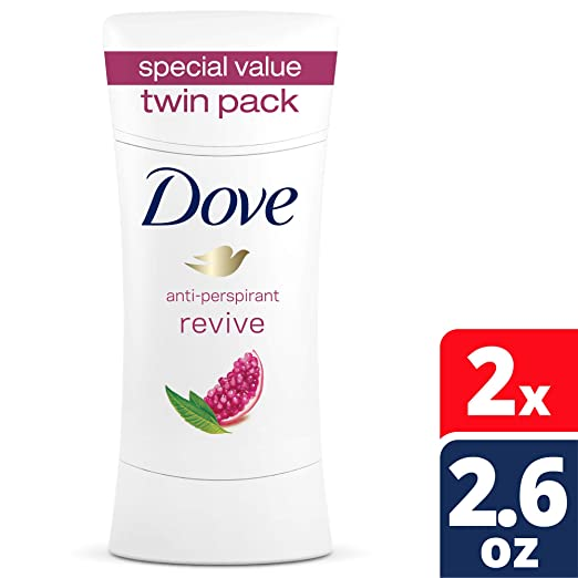 Dove Advance Care Antiperspirant Deodorant, Revive, 2.6 oz, Twin Pack