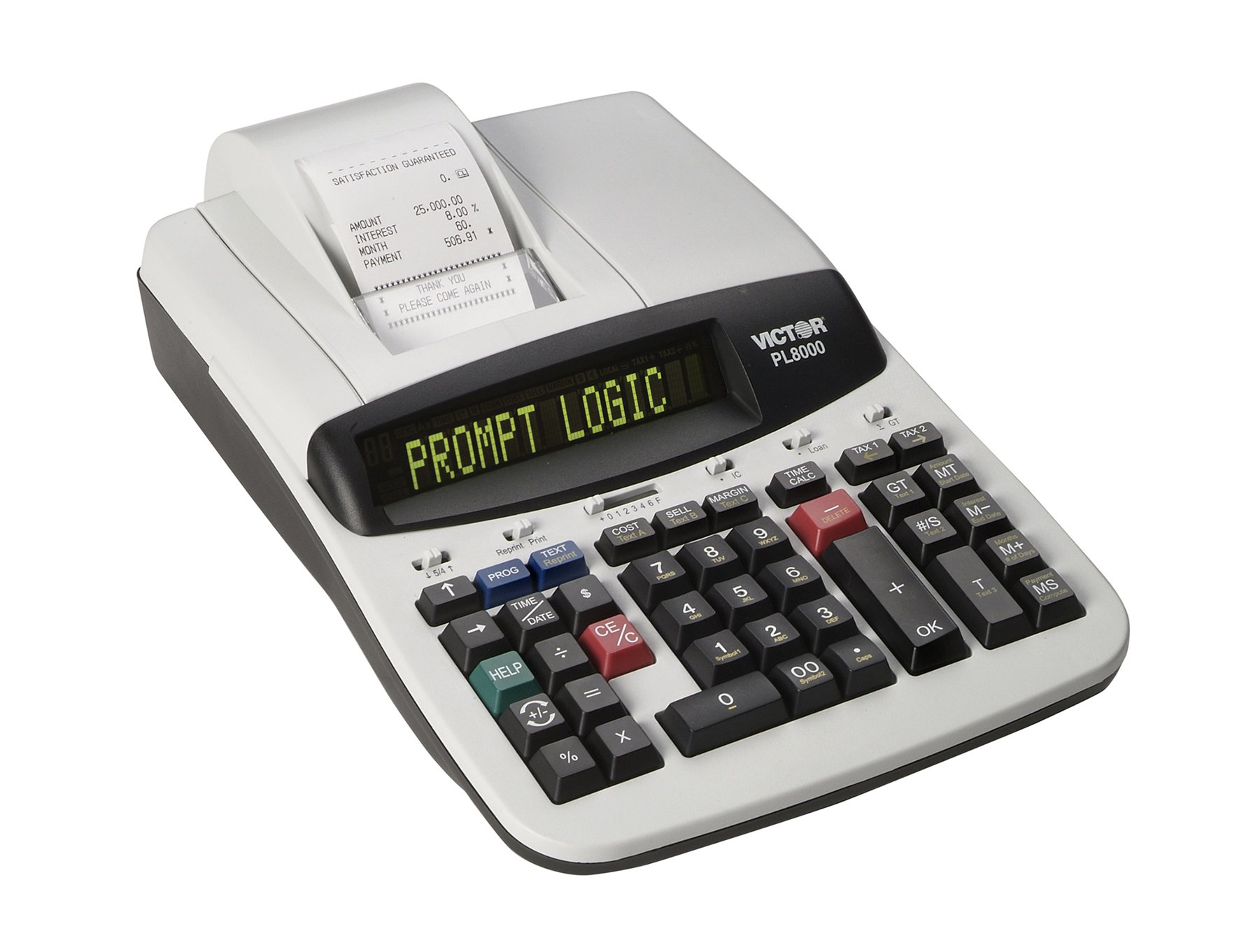 Victor Technology PL8000 Thermal Printing Calculator, Prompt Logic, Help Key, 8.0 Lines Per Second by Victor