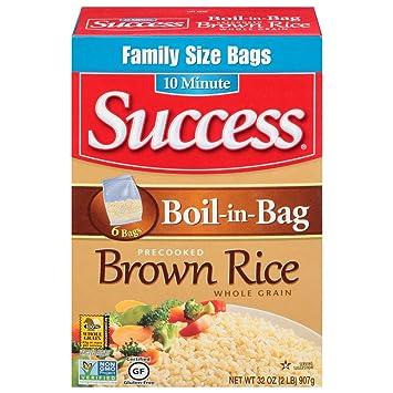 Amazon Success Boil In Bag Brown Rice 2 Lb Brown Rice