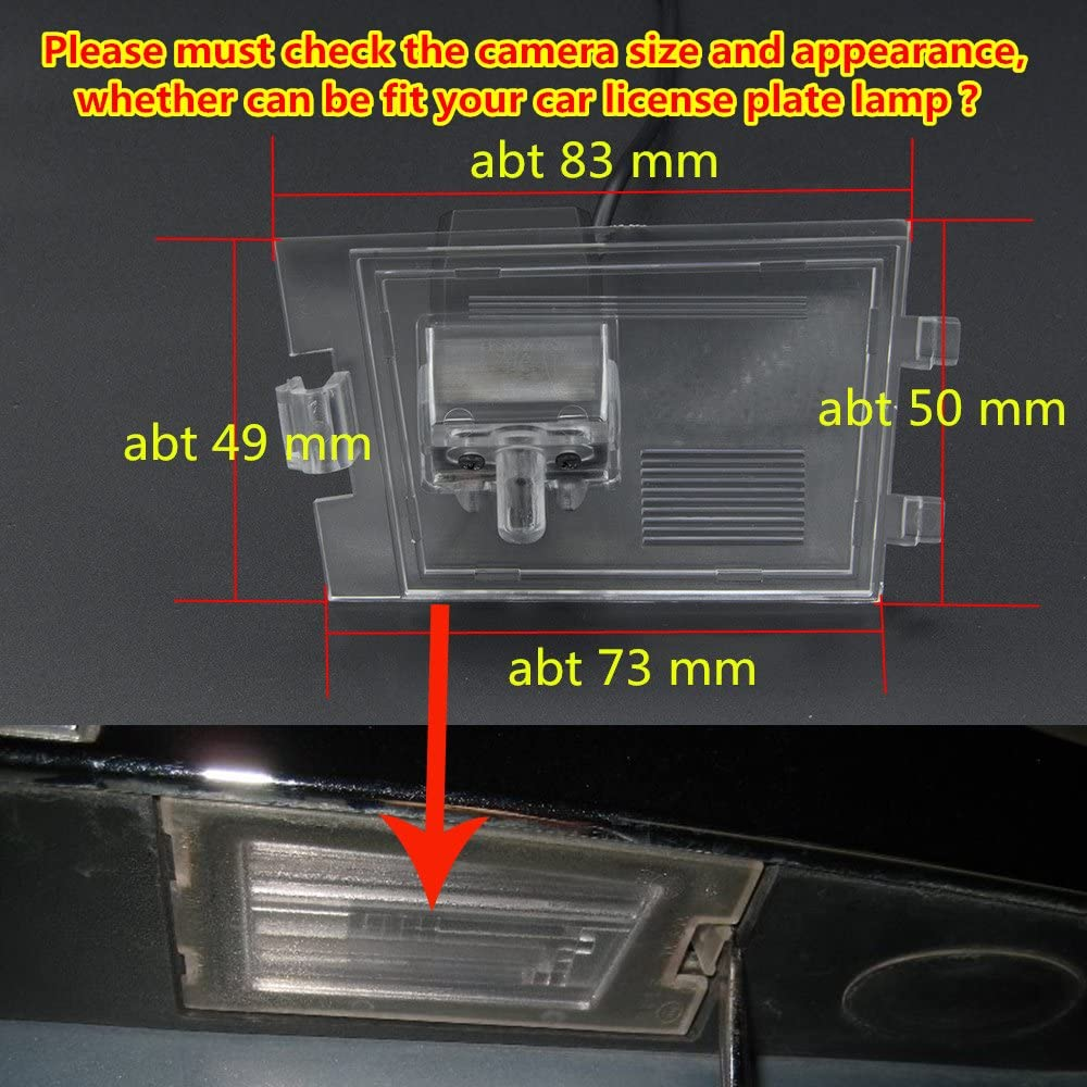 HD 720p Rear Camera Reversing Backup Camera Rearview License Plate Parking Camera Waterproof for Jeep Grand Cherokee 2012-2014 Compass 2011-2012 Liberty Patriot