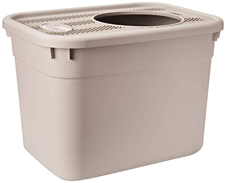 Amazon.com: Clevercat caja de desechos con entrada superior ...