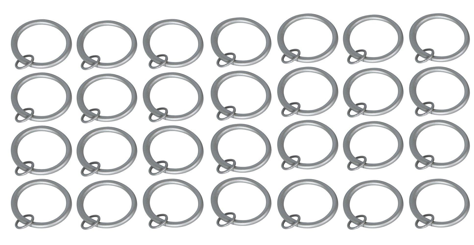 Urbanest 1 1/2'' Metal Curtain Eyelet Rings (Set of 28, Pewter)