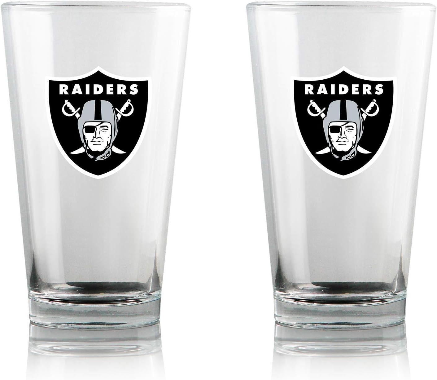 Duck House NFL Clear Highball Pint Glasses | Premium Glassware | Lead-Free | BPA-Free | 16oz | Set of 2