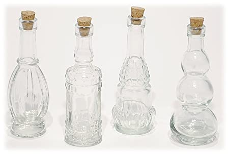 400 Mini Decorative Clear Glass Bottles With Cork Stoppers Set Of 40 Classy Decorative Glass Bottles With Stoppers