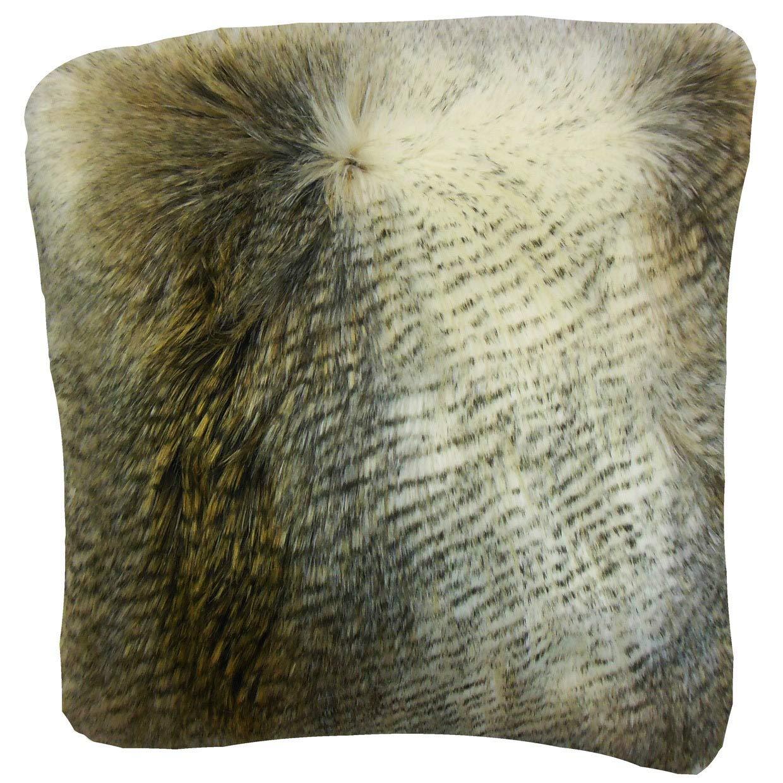 The枕コレクションValeska FauxファーベージュDown Filled Throw枕   B074KSXB9Q