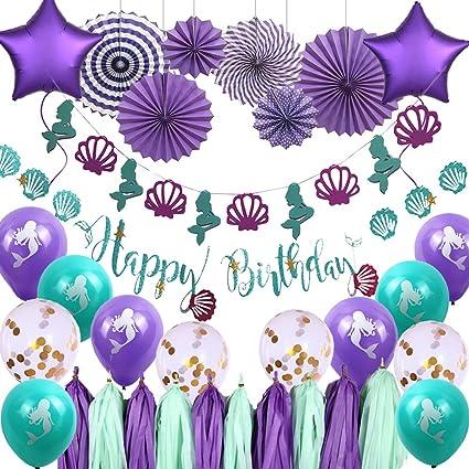 Amazon.com: Decojoy - Decoración de fiesta de cumpleaños con ...