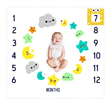 5b1454945 Amazon.com  Baby Milestone Blanket