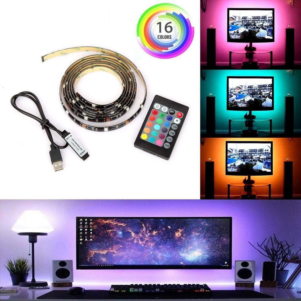 Dickin Computer Television Background Lights 24 Keys Remote Controller LED Light Strip Rope Lights