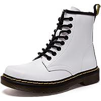 ukStore Botte Femme Hiver/Homme Bottes Cuir/Bottines Plates Fourrées/Boots Chaussures Lacets/Classiques Chaudes Impermeables