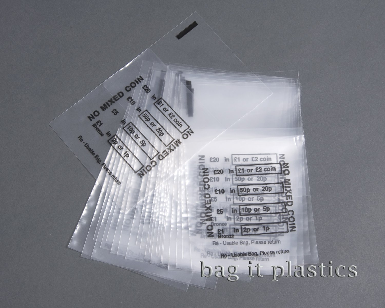 Set da 75 bustine portamonete Bag It Plastics