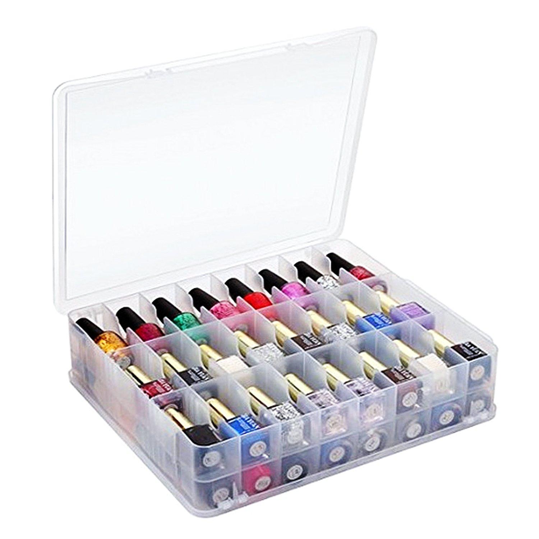 kissbuty universal soporte organizador para 48 Botellas Ajustable separadores Space Saver – de esmalte de uñas