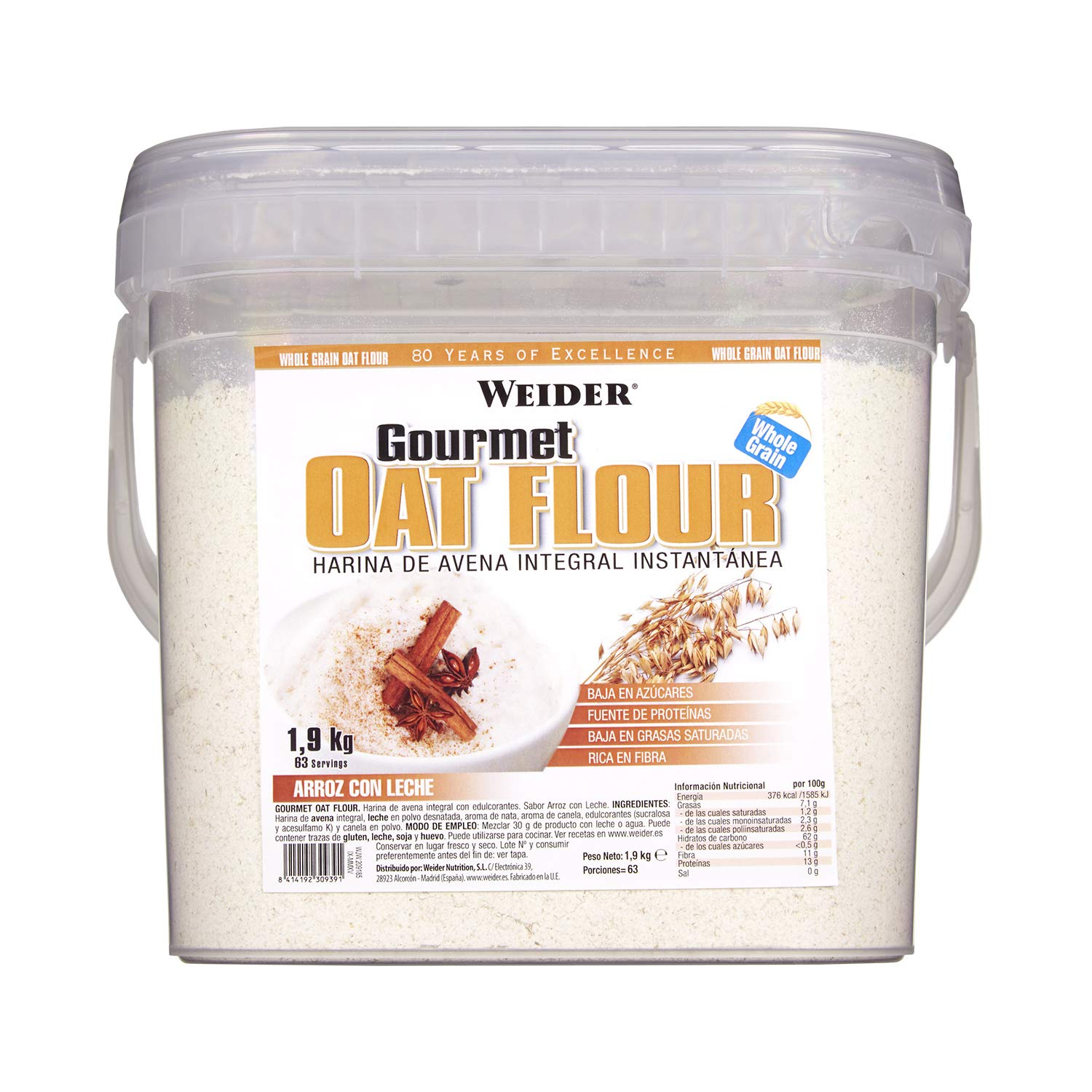 JOE WEIDER VICTORY OAT GOURMET FLOUR BAG 1 kg (Apple ...