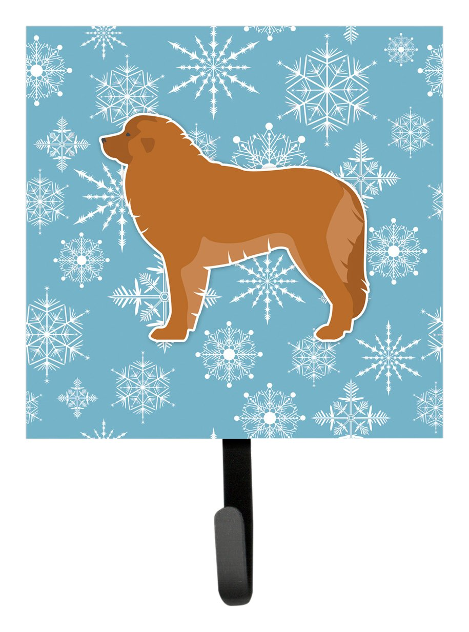 Carolines Treasures Winter Snowflake Leonberger Leash or Key Holder BB3558SH4 Small Multicolor