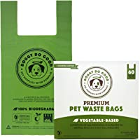 Biodegradable Dog Poop Bags | Compostable Dog Waste Bags, Unscented with Easy-tie Handles, Vegetable-Based & Eco…