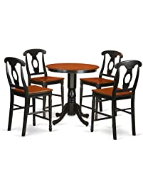 Amazing East West Furniture EDKE5 BLK W 5 Piece High Top Table And 4 Chairs