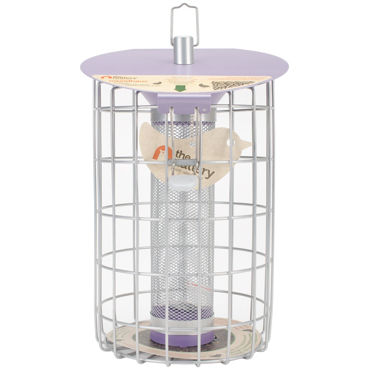 World Source Partners The Nuttery Roundhaus Thistle Feeder-13.2  H X 9.1  W X 9  D