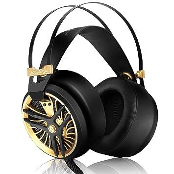 DIZA100 Auriculares ligeros para PC con micrófono Cool Design Over Ear Auriculares para juegos Auriculares con cancelación de ruido con cable: Amazon.es: ...