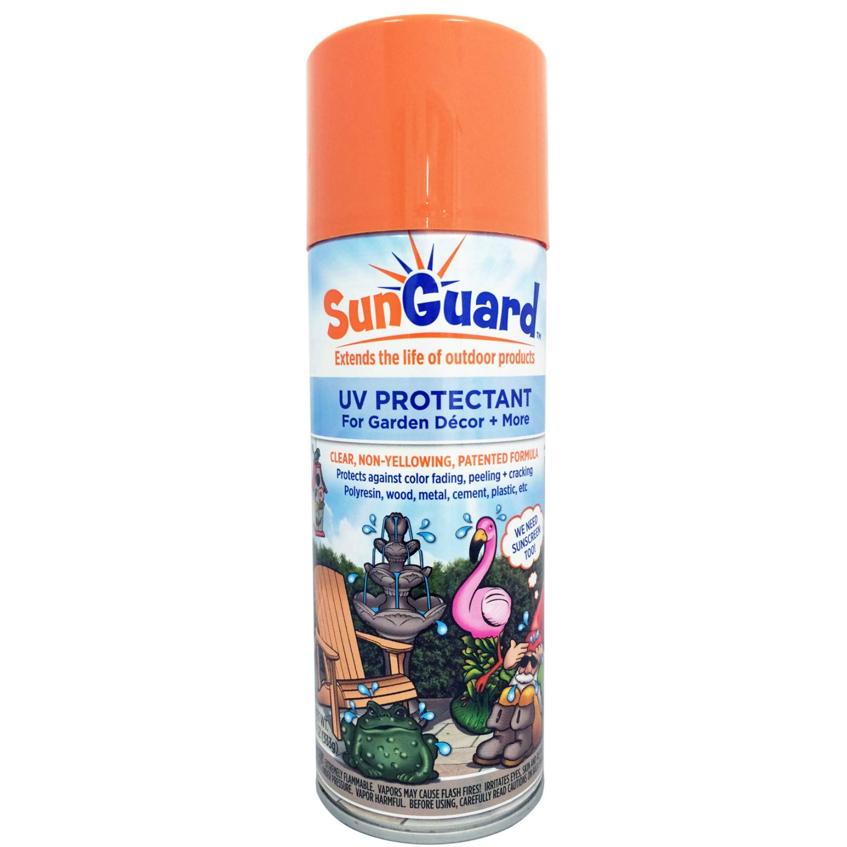 SUNGUARD UV Protectant Spray for Outdoor Decor, Furniture & More to Prevent Fading, Peeling and Cracking by SUNGUARD