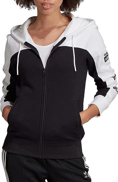 adidas Originals Full Zip Hoodie Grey Womens Hoodies