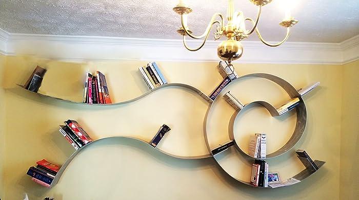 Trailing Spiral Floating Bookshelf XL