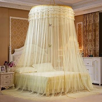 Avelaiva Dome Bett Aufhängen Baldachin Moskitonetz, Rund Pastoral Lace  Butterfly Betten Net, Baby Mädchen