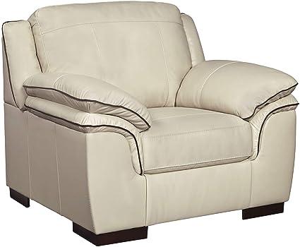 Swell Ashley Furniture Signature Design Islebrook Contemporary Leather Accent Chair Vanilla Spiritservingveterans Wood Chair Design Ideas Spiritservingveteransorg