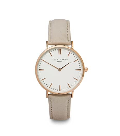 30d2fda19 Image Unavailable. Image not available for. Colour: Elie Beaumont Womens  EB805L.2 Analogue Classic Watch with Leather Strap