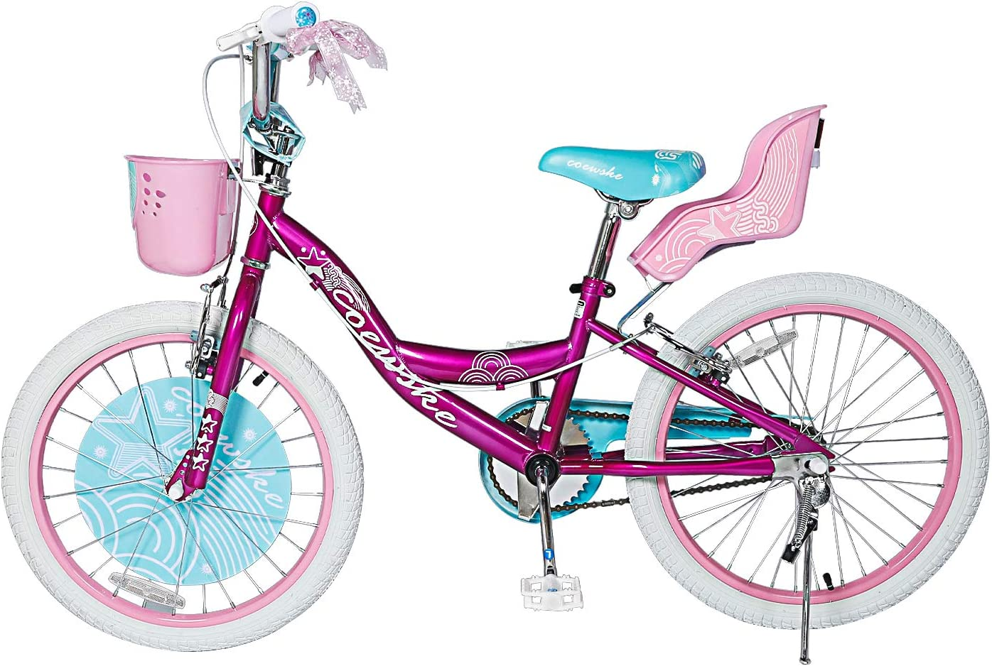 Kids Bike 12 14 16 Inch Boys Girls Bike with Training Wheels 18 20 Inch Kids Bicycle with Hand Brake and Kickstand for Toddlers and Children