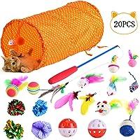 Queta Katzenspielzeug Set, 20 Stück Katzen Spielzeug Variety Pack für Kitty