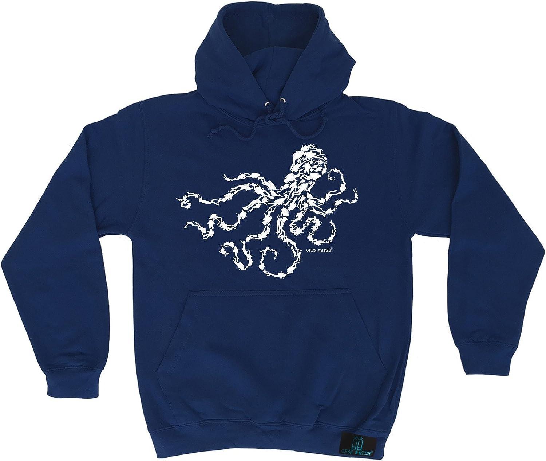 HOODIE Open Water Octopus Scuba Diver Design