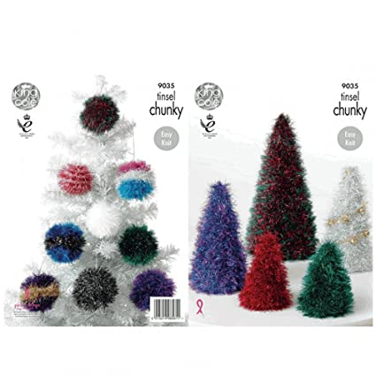 Amazon King Cole Tinsel Chunky Knitting Pattern For Festive