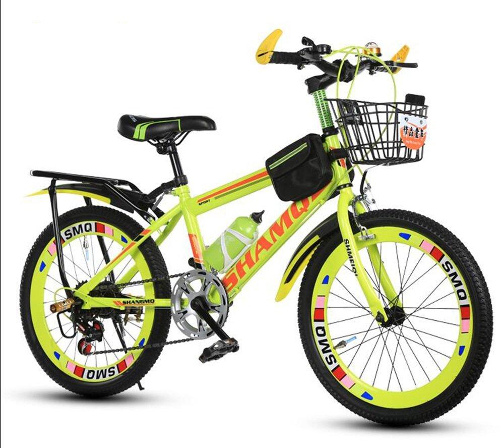 美しい 家子供用自転車、6-7-8-9-10-14歳のベビーカーの女性女性20/22インチの学生マウンテンバイク (色 : イエロー いえろ゜, サイズ さいず : 22 inches) B07D1P824Hイエロー いえろ゜ 22 inches