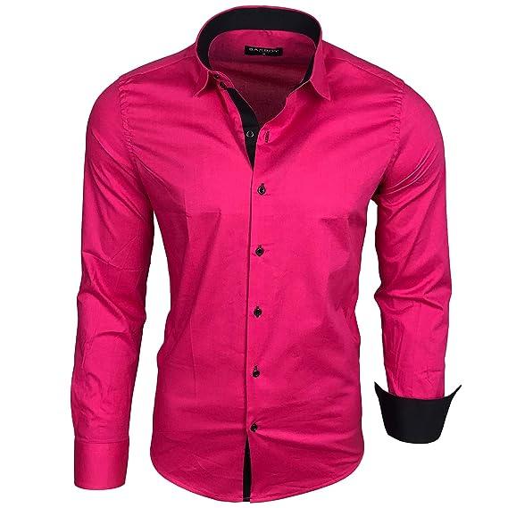 Camisa básica para hombre, para ocio, negocios, traje, manga larga ...