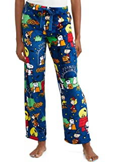 1c9b1d137 Peanuts Halloween Snoopy Charlie Brown Women's Pajama Minky Fleece Sleep  Pants, ...