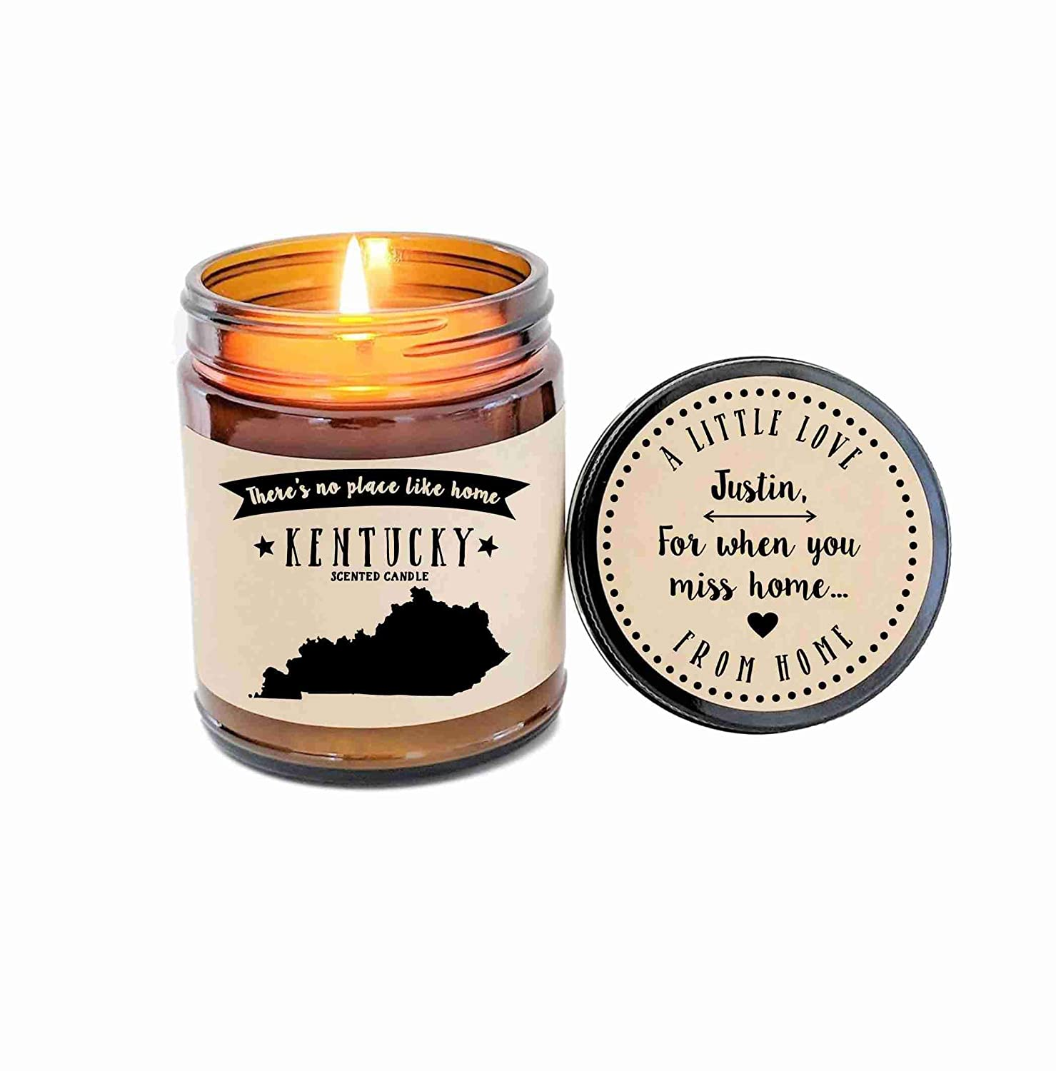 Kentucky Scented Candle Missing Home Homesick Gift Moving Gift New Home Gift No Place Like Home State Candle Thinking of You Valentines Day Gift