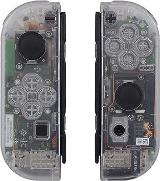 eXtremeRate Carcasa Translúcida para Joy-con de Nintendo Switch ...
