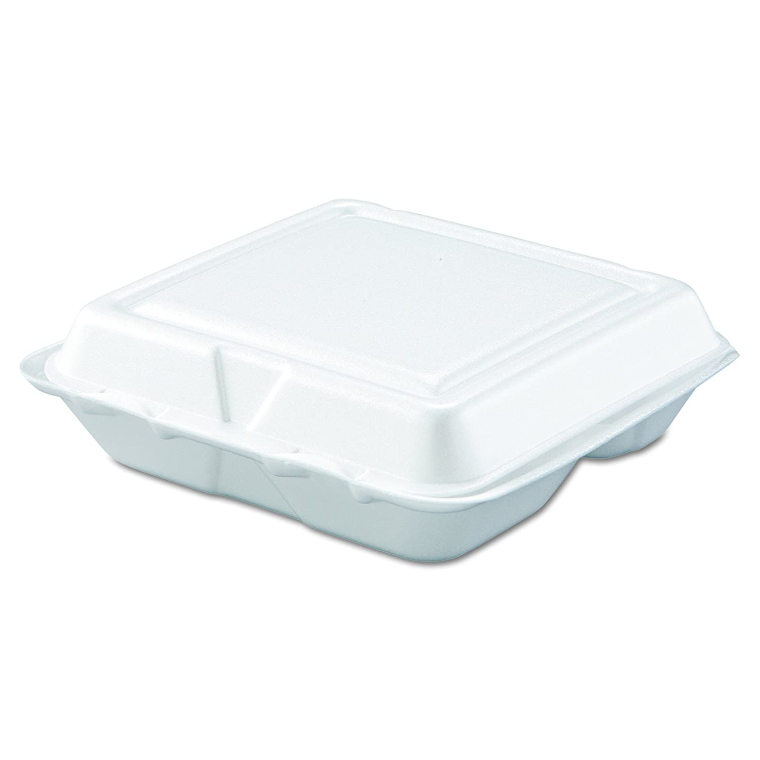 Dart 80HT3R Carryout Food Container, Foam, 3-Comp, White, 8 x 7 1/2 x 2 3/10 (Case of 200)