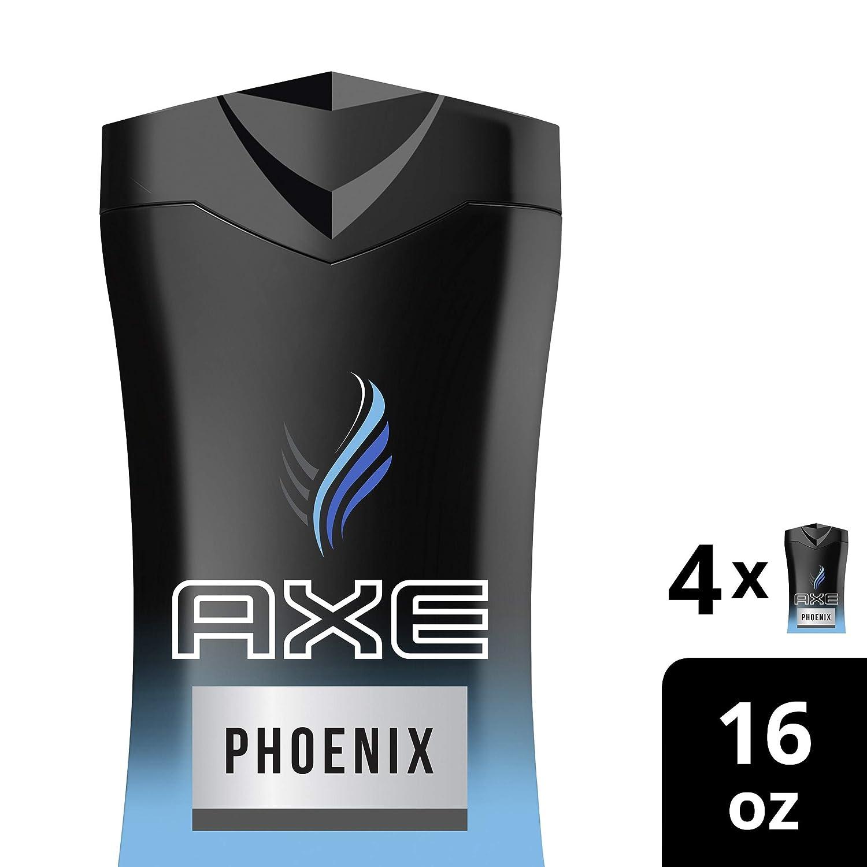 AXEPhoenix Body Wash for Men 16 Fl Oz (Pack of 4)