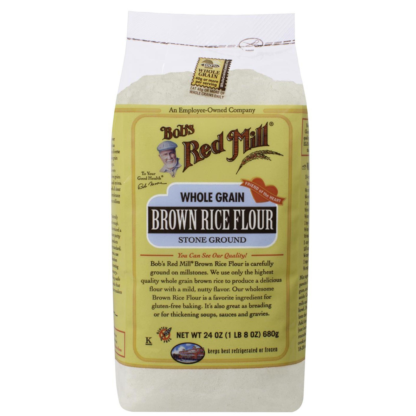 Bob's Red Mill, Whole Grain Brown Rice Flour, 24 oz(Pack of 4) by BOBS RED MILL